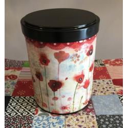 Boîte à Thé Illustrée Poppies